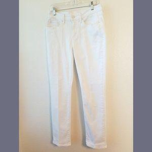 Levi's White Mid Rise Skinny Denim Jeans Sz 29